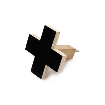 Cross Wall Hook Black - sm