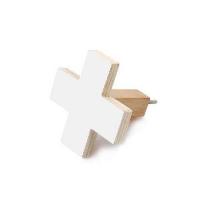 Cross Wall Hook White - small