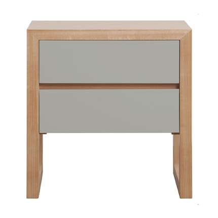 colour box bedside table 2 drawer - 6 colour options