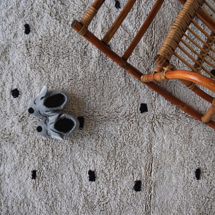 cotton berber rugs - going dotty