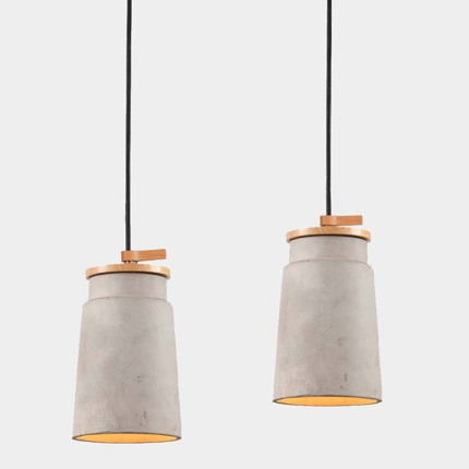 cylindrical concrete pendant light