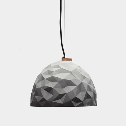 dome gemetric concrete pendant light