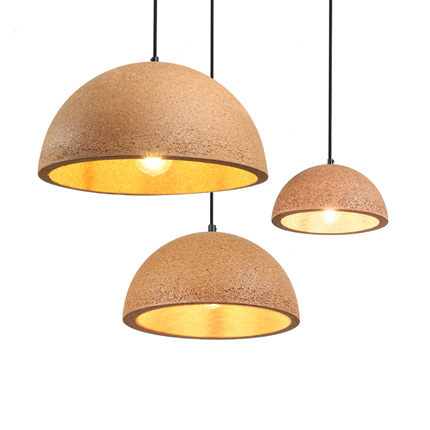dome cork pendant light