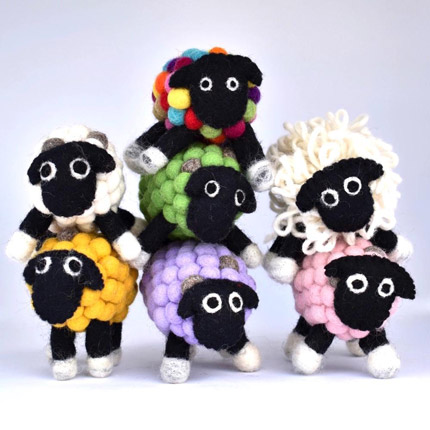 Felt Ball Sheep