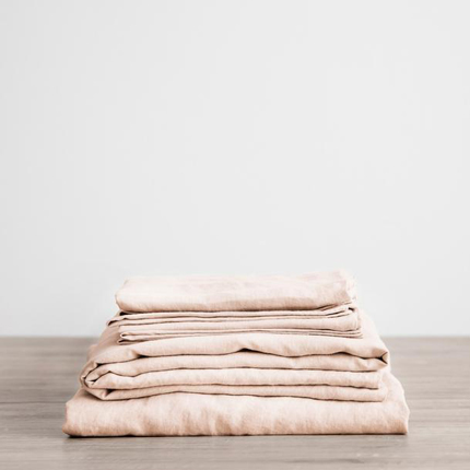 Linen Sheet Set - Blush