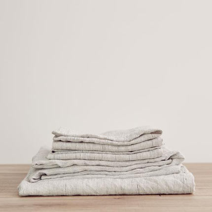 Linen Sheet Set - Pinstripe