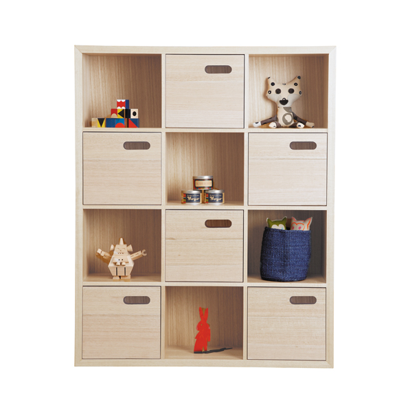 scoop bookcase large - stain finish