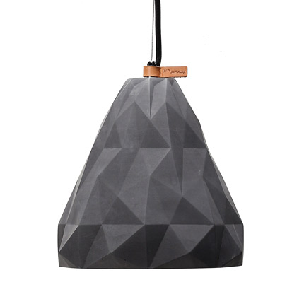 triangular geometric concrete pendant light