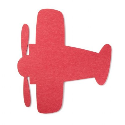 aeroplane felt wall art - red