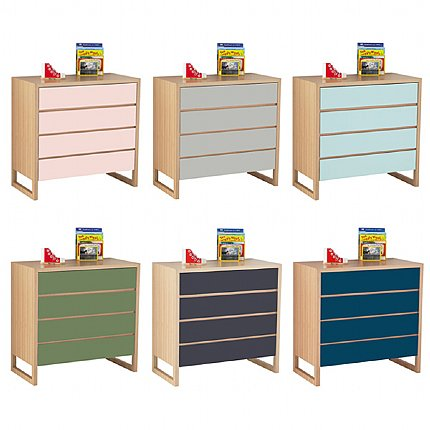 colour box chest of drawers - 6 colour options