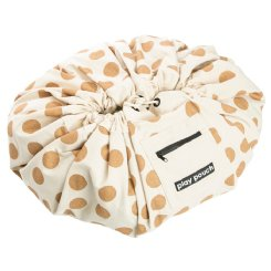Printed Play Pouch - Glitter Gold Dots