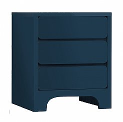 scoop bedside 3 drawer - 6 colour options