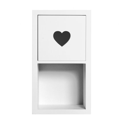 sweetheart bedside table - white