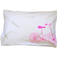 Bike Pillowcase - Pink / Silver
