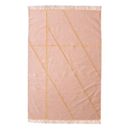 Little Bling Pink and Gold Rug