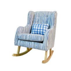 Petite Children's Rocking Chair - Indigo Stripe
