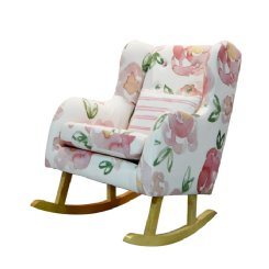 Petite Children's Rocking Chair - Blush Peony