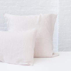 French Flax Linen Pillowcase Set - Blush