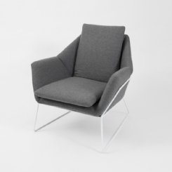 Boden Armchair Grey - White Frame - EX-DISPLAY