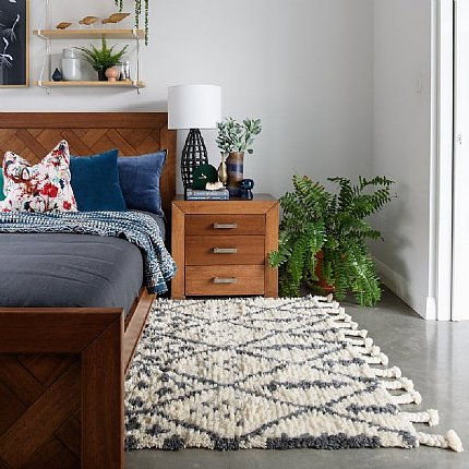 boho moroccan wool tribal rug