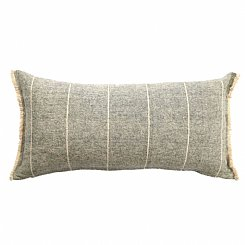 brushed wild stripe cushion
