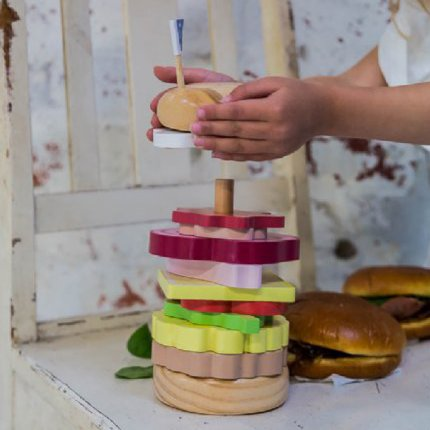 Iconic Toy Stacking - Burger - EX DISPLAY