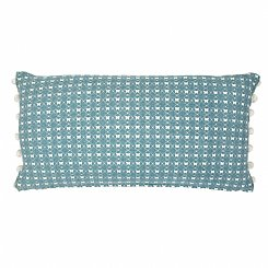 butterfly lace cushion - blue