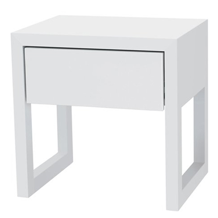 colour box bedside table - white