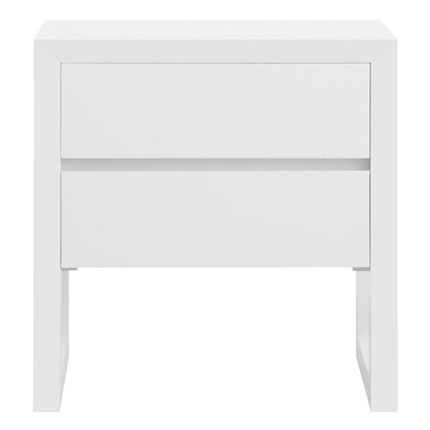 colour box bedside table 2 drawer - white