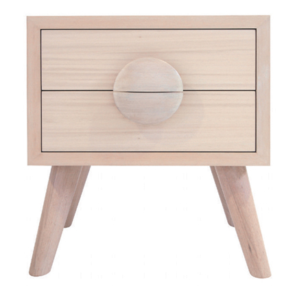 charlie bedside table - white wash