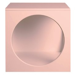 circle bedside table -  soft pink EX DISPLAY