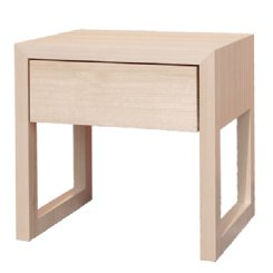 colour box bedside table - white wash