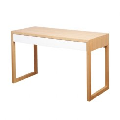 colour box desk white & natural