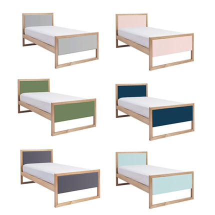 colour box bed single - 6 colour options