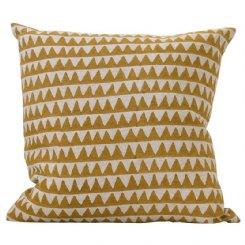 pyramid saffron cushion