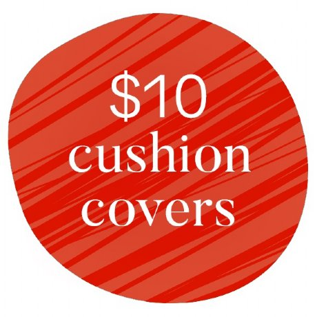 $10 cushion covers