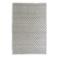 Diamond Honey Comb Rug - Grey