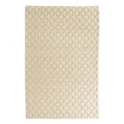 Diamond Honey Comb Rug - White