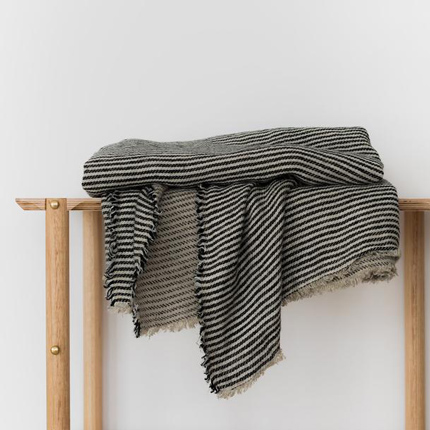 Ellis Stripe Mira Linen Throw