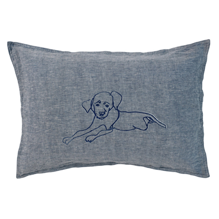 Navy Dog Pillowcase