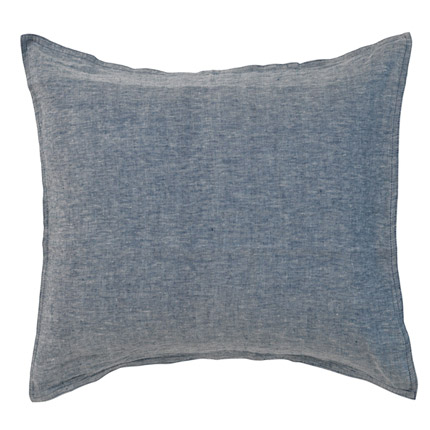 Quilty Pleasures Linen European Pillowcase - Denim/Navy