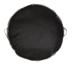 Circular Leather Floor Pads - Black