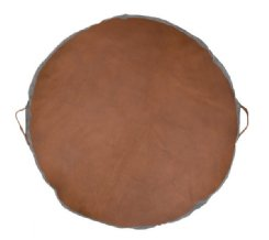 Circular Leather Floor Pads - Tan