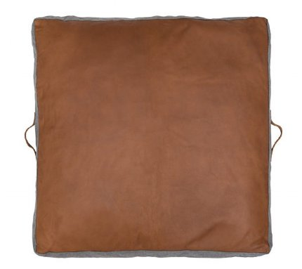 Square Leather Floor Pads - Tan