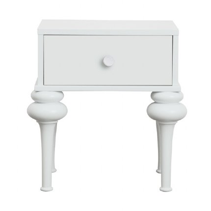 florentine bedside table - white