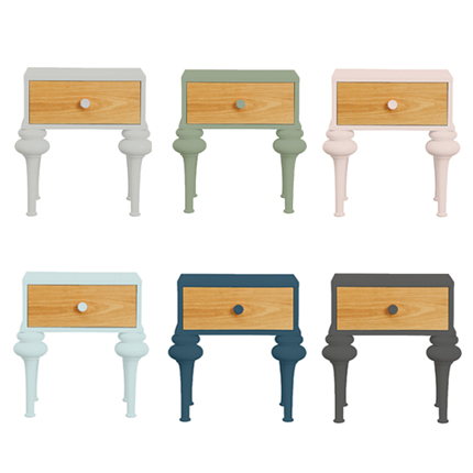 florentine bedside table - colour options