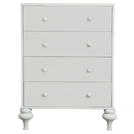florentine chest of drawers - white
