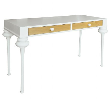 florentine desk white & natural