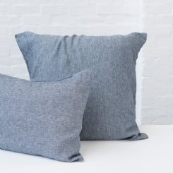 French Flax Linen Pillowcase Set - Denim