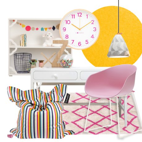 home office - bright and fun